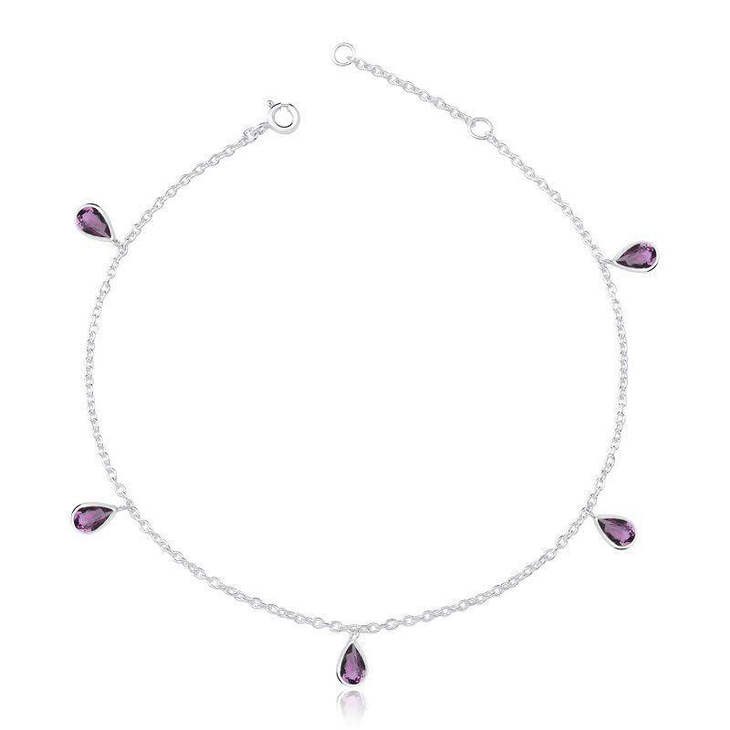 Tornozeleira Gotas Púrpura