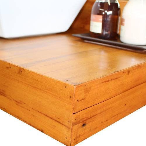 Bancada Para Lavabo (50x40) Madeira Demolição - Peroba Rosa