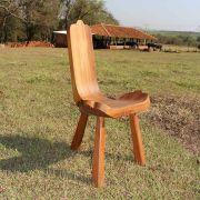 Cadeira de Madeira de 03 Pés - modelo Bacalhau - Pequena - Jacarandá da Bahia