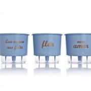 Kit 3 Vasos Autoirrigáveis Nunca Nos Falte Azul Serenity PEQUENO
