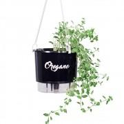 Vaso Autoirrigável para Horta Orégano - Linha Gourmet Preto