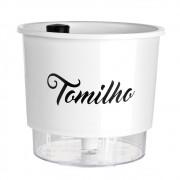 Vaso Autoirrigável para Horta Tomilho - Linha Gourmet Branco