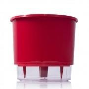 Vaso Autoirrigável Vermelho PEQUENO 11,5cm (alt)