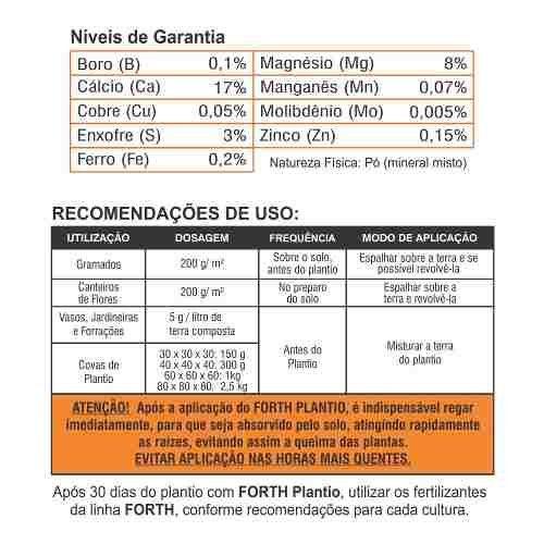 Adubo Fertilizante para Plantio -  FORTH Plantio - 400g