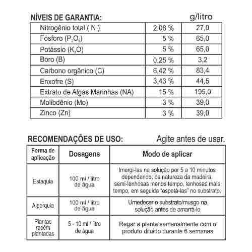 Fertilizante Enraizador Para Fertirrigação - FORTH Enraizador - 500ml - Faz 100 Litros
