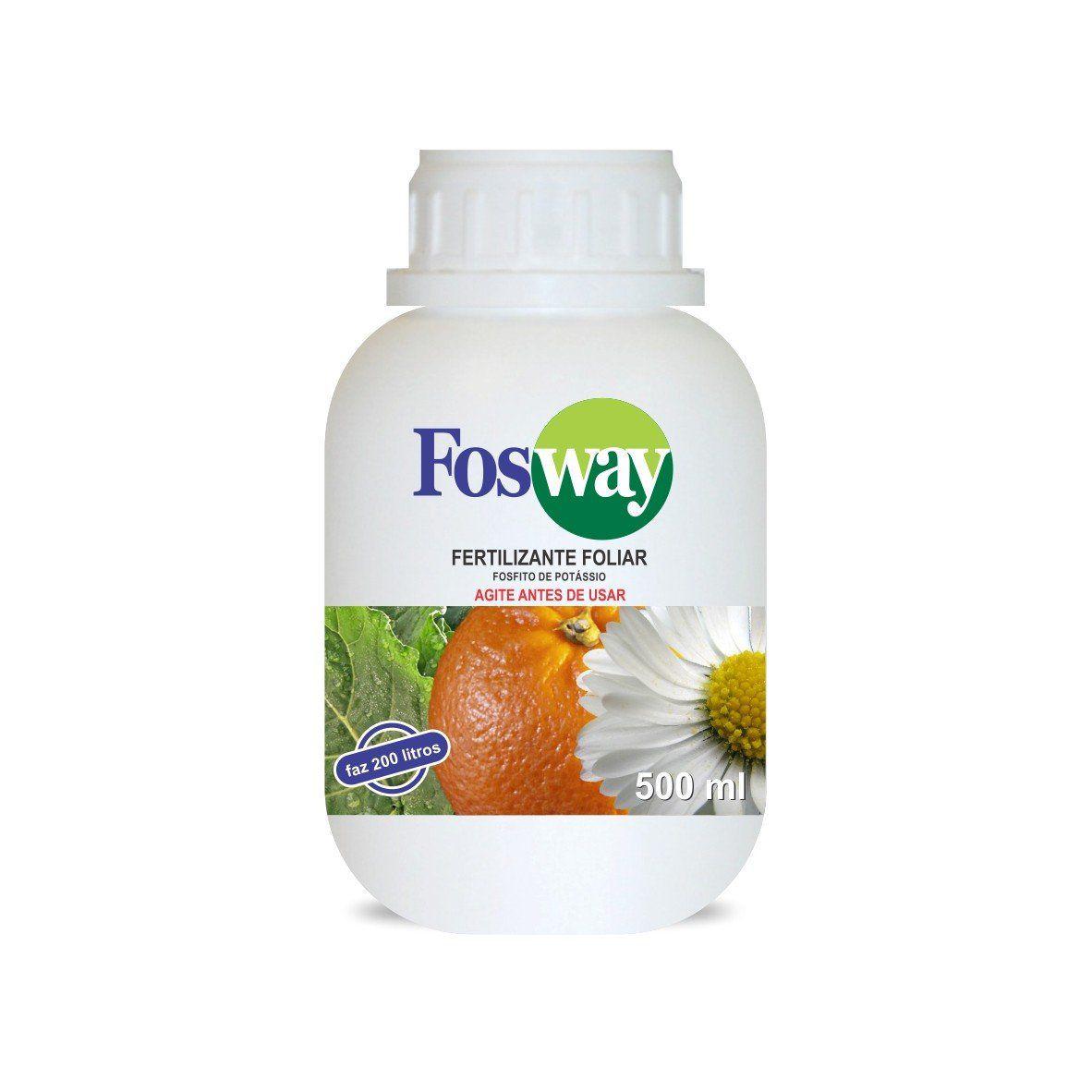 Adubo Fertilizante com Fosfito de Potássio FOSWAY - 500ml - Faz 200 Litros