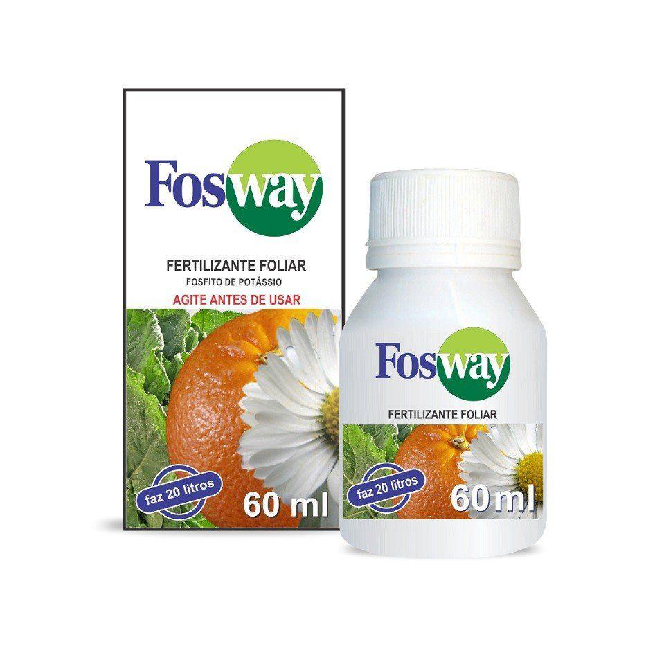 Adubo Fertilizante com Fosfito de Potássio FOSWAY - 60ML - Faz 20 Litros