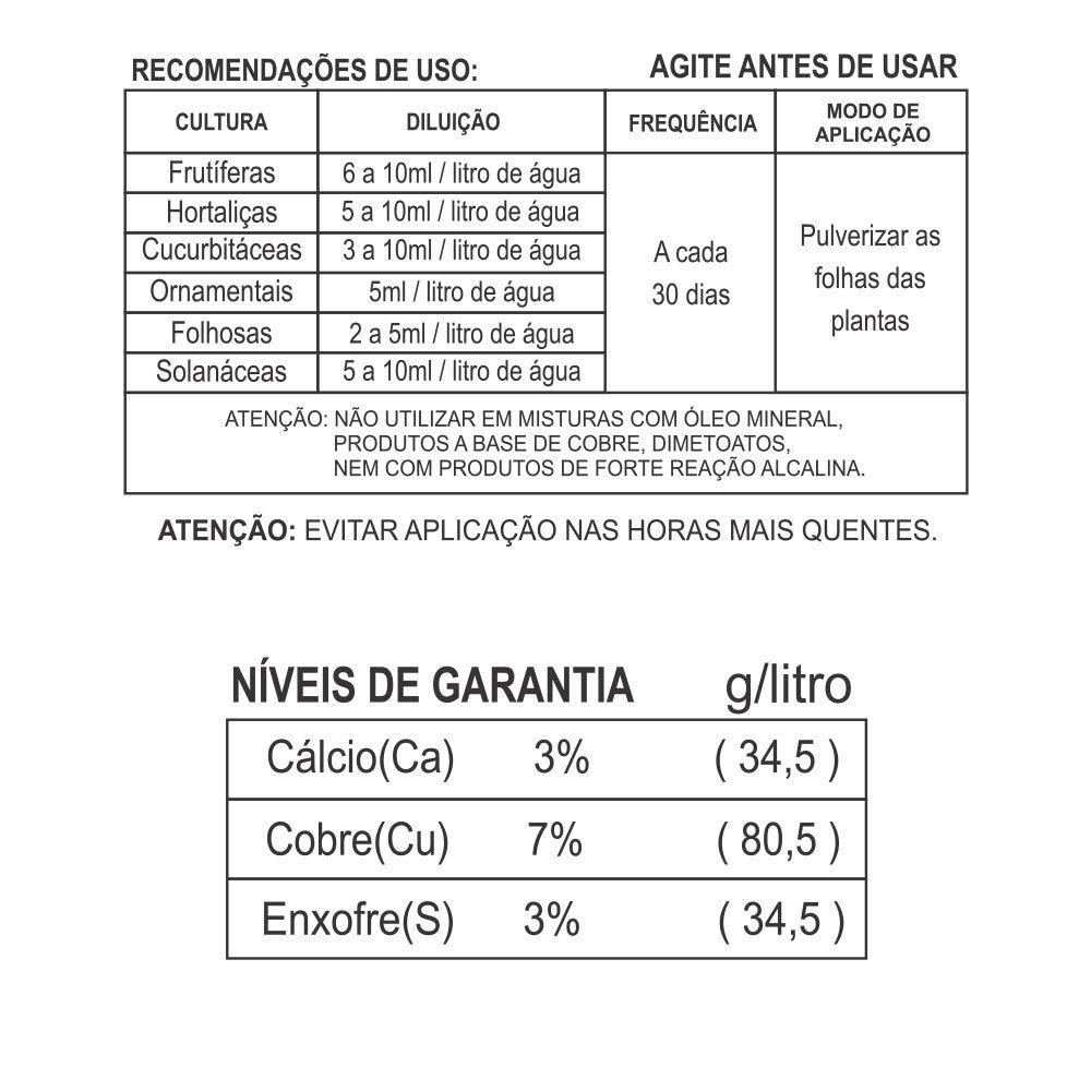 Adubo Fertilizante para Agricultura - FORTH COBRE - 60ml