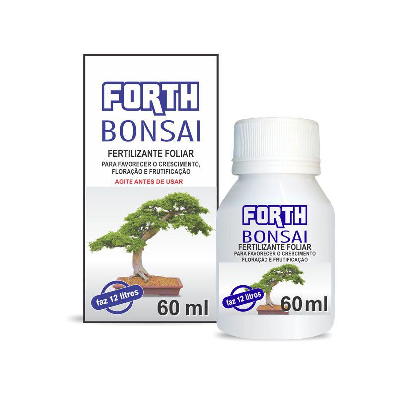 Adubo Fertilizante para Bonsai - FORTH Bonsai - 60ml - Faz 12 litros