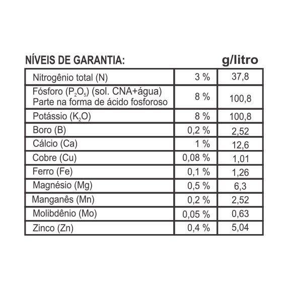Adubo Fertilizante para Cactos - FORTH Cactos - 1 Litro - Faz 200 litros