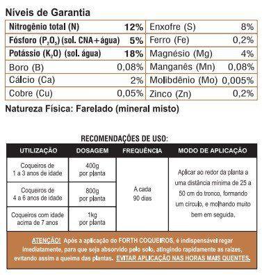 Adubo Fertilizante para Coqueiros - FORTH Coqueiros - 10kg