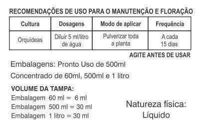 Adubo Fertilizante para Floração de Orquídeas - FORTH Orquídeas - 500ml - Faz 100 Litros