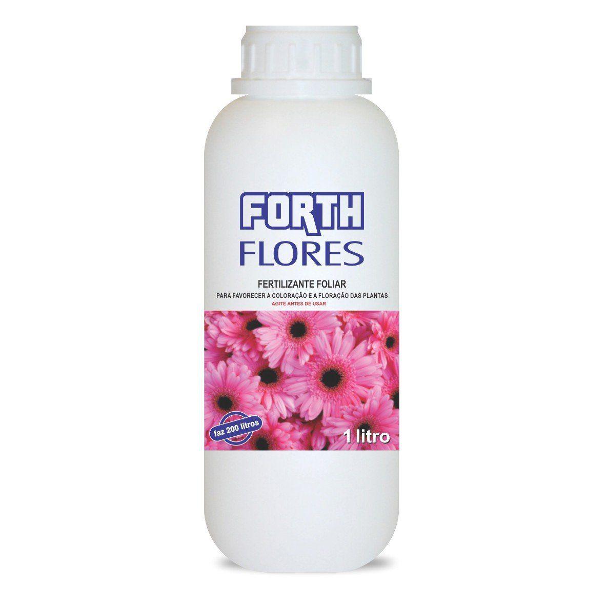Adubo Fertilizante para Flores - FORTH Flores - 1Litro Faz 200 Litros