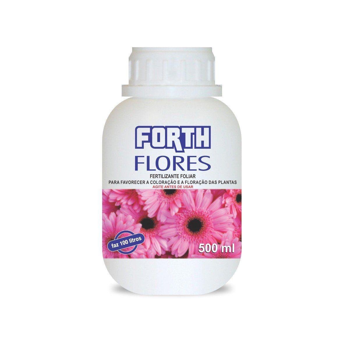 Adubo Fertilizante para Flores - FORTH Flores - 500ml Faz 100 Litros