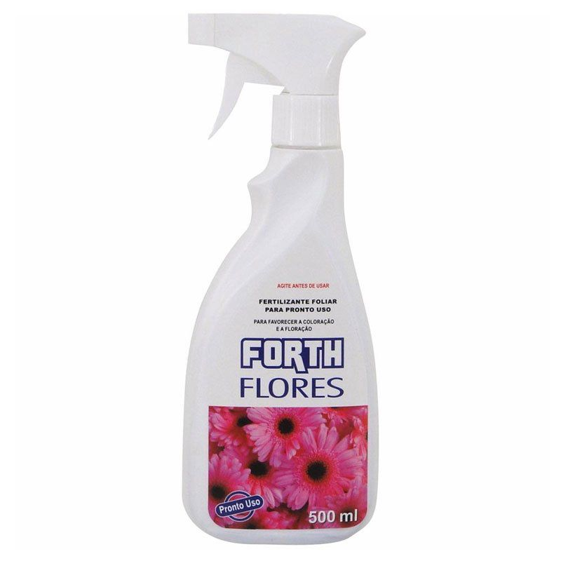 Adubo Fertilizante para Flores - FORTH Flores - 500ml - Pronto Uso
