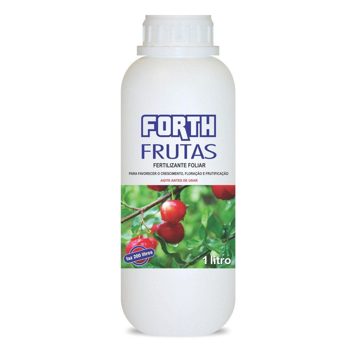 Adubo Fertilizante para Frutas - FORTH Frutas - 1Litro Faz 200 Litros