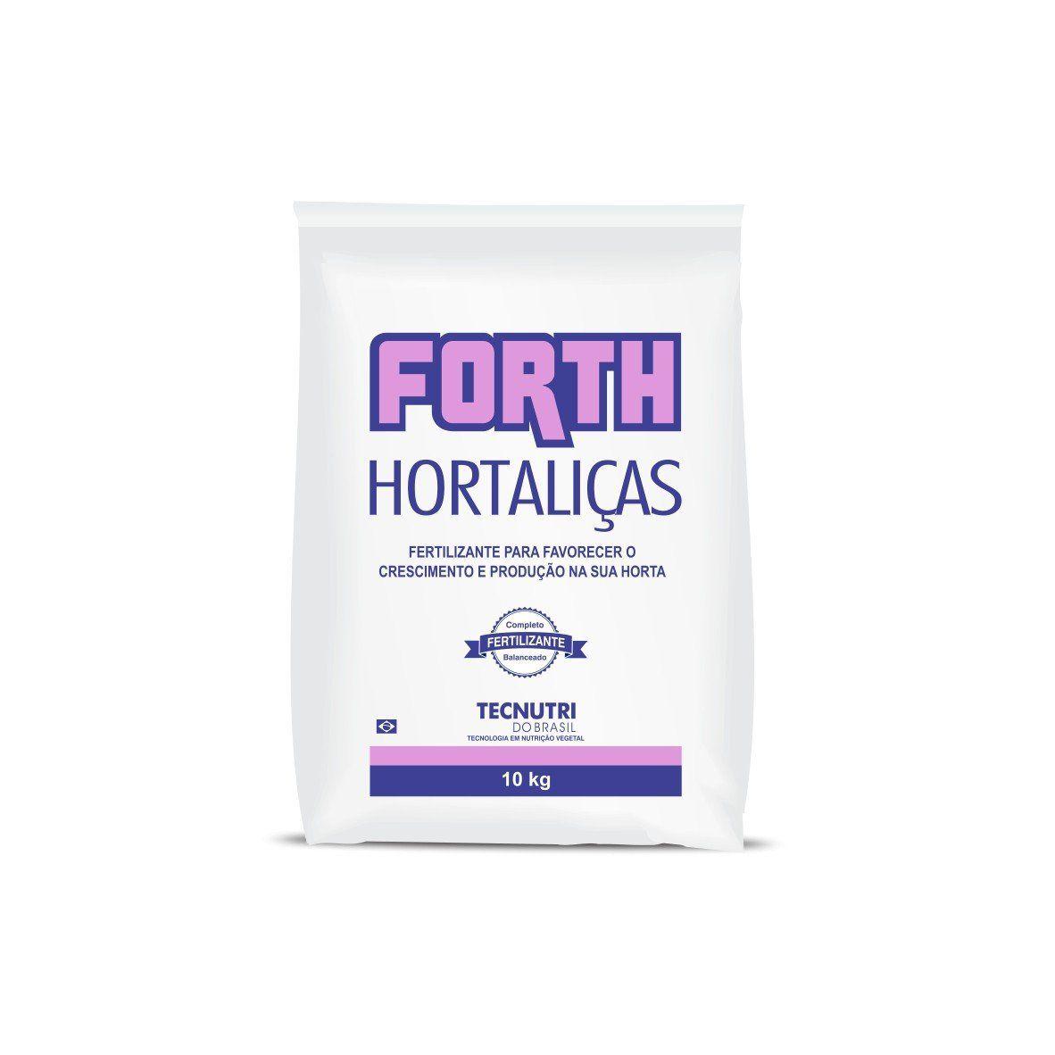 Adubo Fertilizante para Hortaliças - FORTH Hortaliças - 10kg