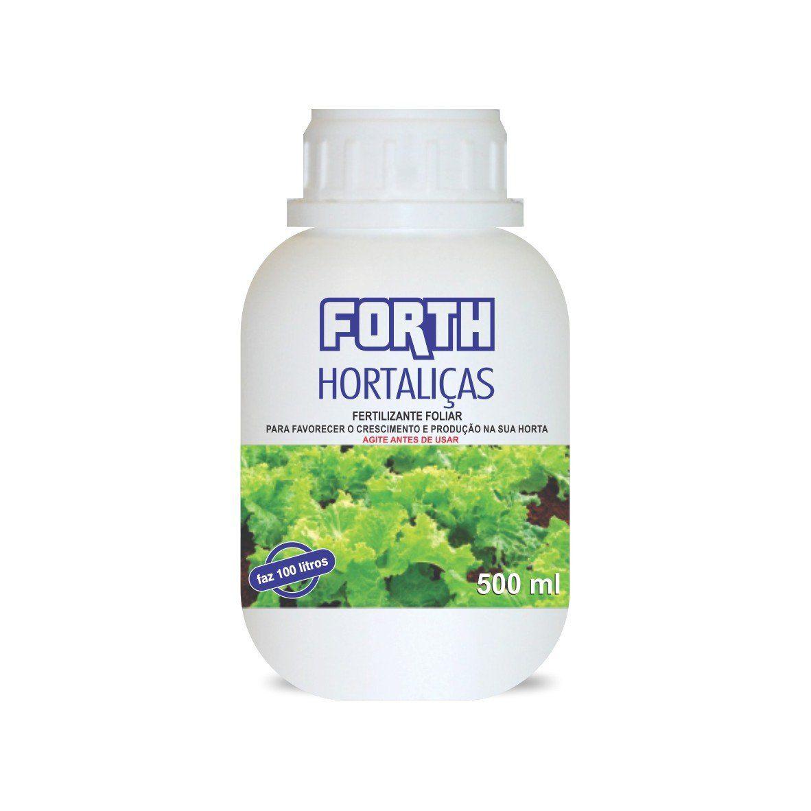 Adubo Fertilizante para Hortaliças - FORTH Hortaliças - 500ml - Faz 100 litros