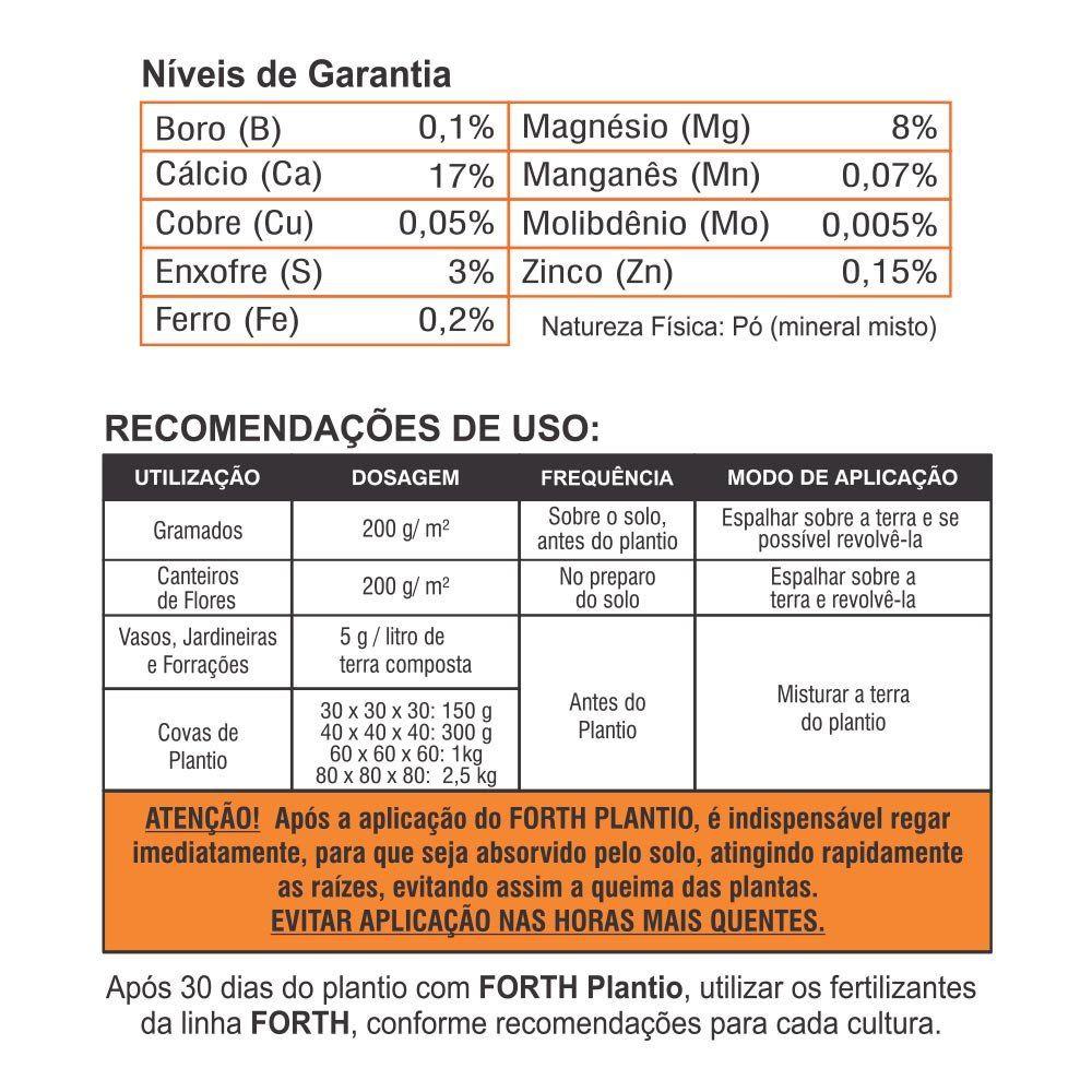 Adubo Fertilizante Para Plantio -  FORTH Plantio - 3 Kg