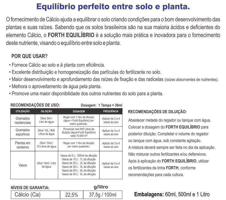 Adubo Fertilizante para Vasos, Canteiros, Jardins e Gramados - FORTH Equilíbrio - 500ml - Faz 100 Litros
