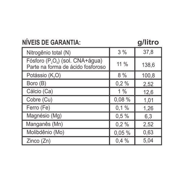 Adubo Fertilizante para Violetas - FORTH Violetas - 1 Litro - Faz 200 litros