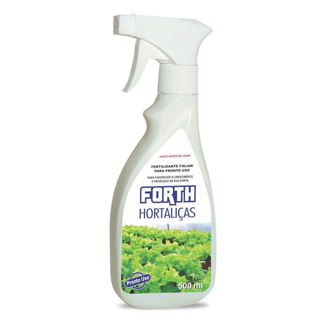 Adubo Fertilizante para Hortaliças - FORTH Hortaliças - 500ml - Pronto Uso