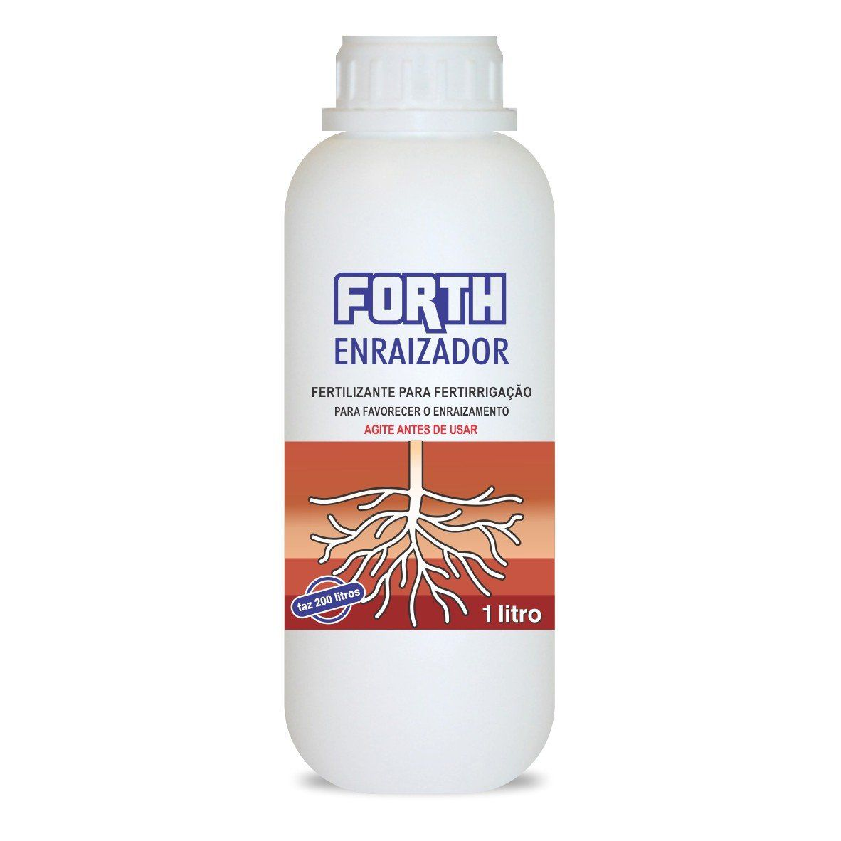 Fertilizante Enraizador para Fertirrigação - FORTH Enraizador - 1 Litro