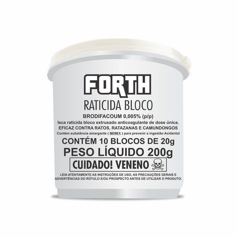 FORTH Raticida Bloco 200g