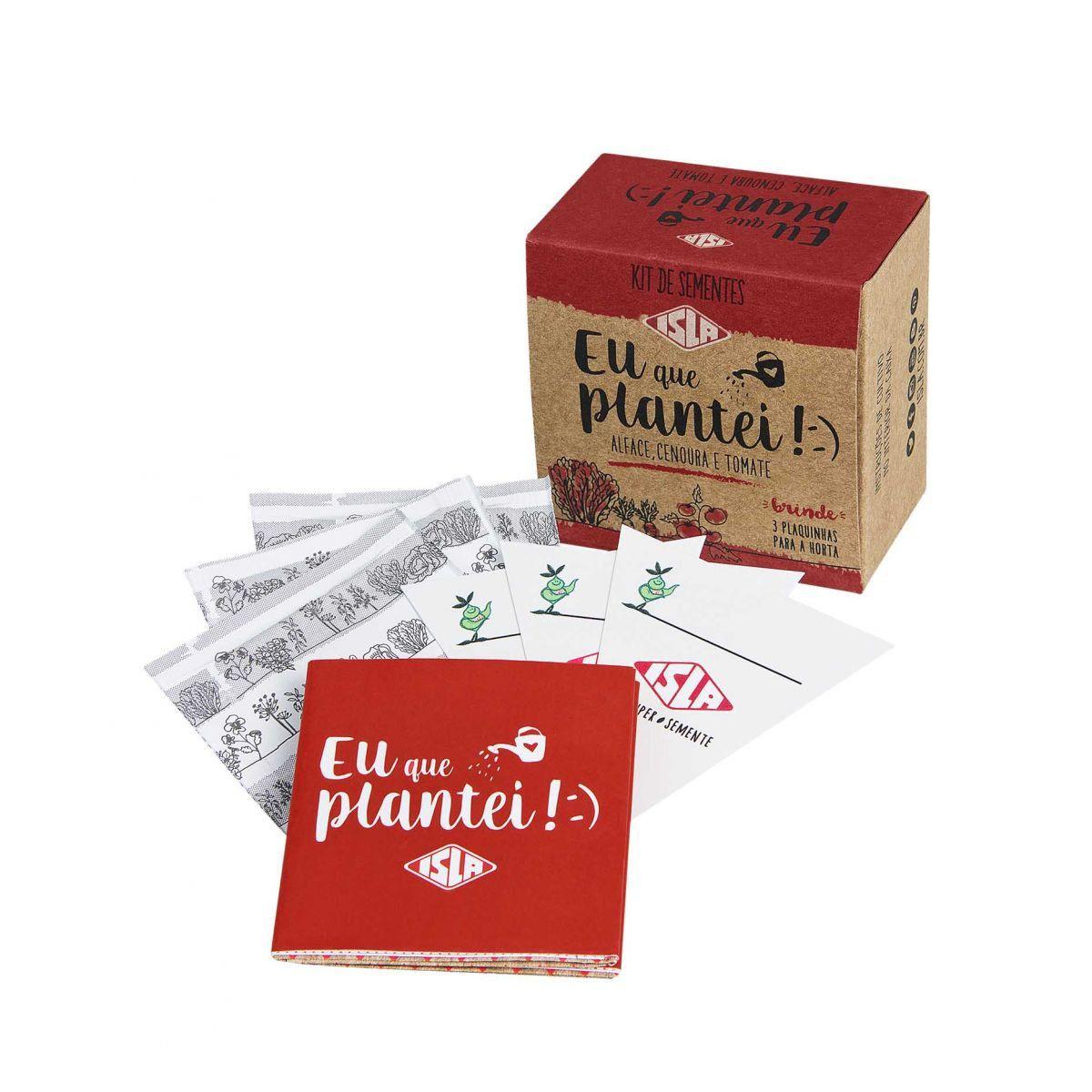 "Kit de Sementes ""Eu Que Plantei"" (Alface, Tomate e Cenoura)"