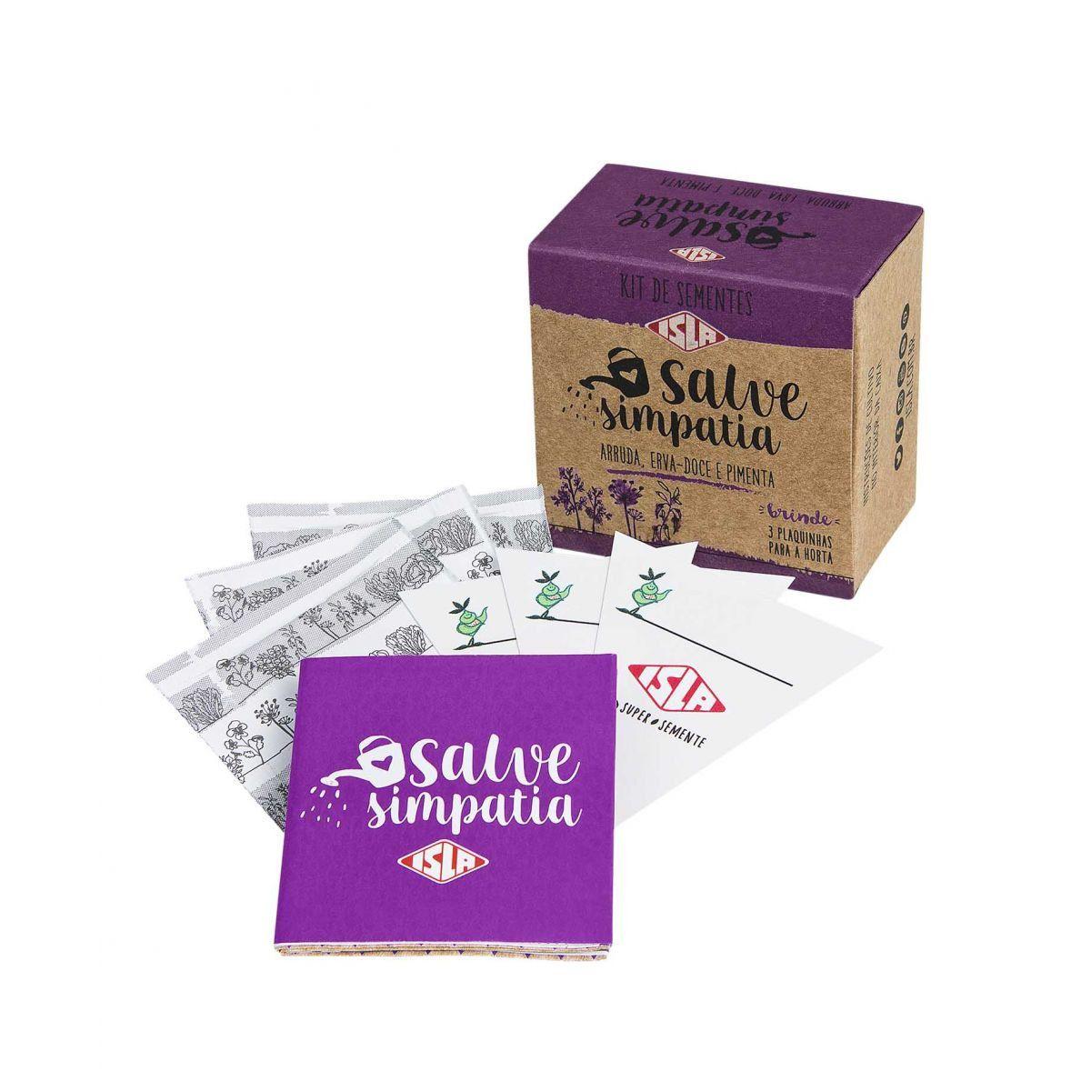 "Kit de Sementes ""Salve Simpatia"" (Arruda, Erva Doce e Pimenta)"