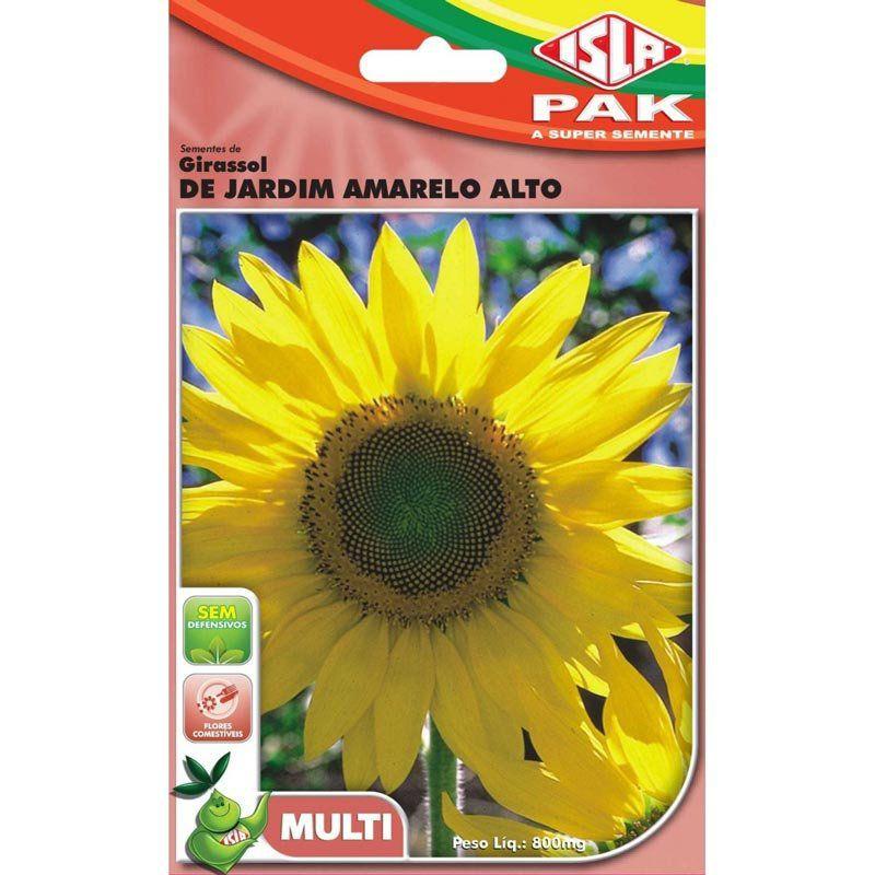 Sementes de Girassol de Jardim Amarelo Alto (Isla Multi)