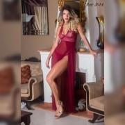 Camisola longa em tule - Lingerie garota veneno