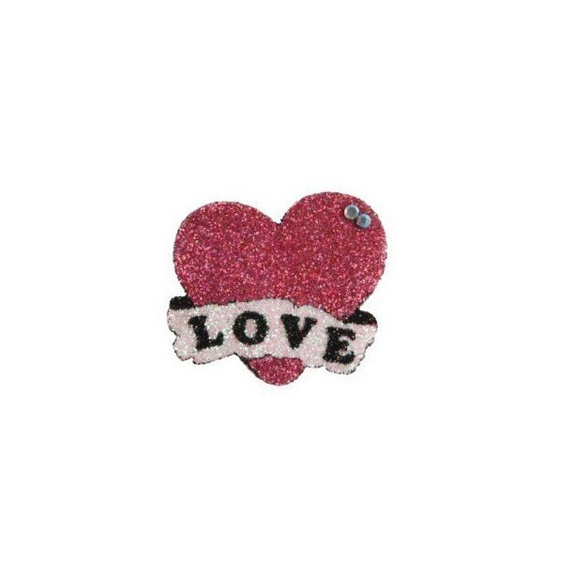 Adesivo De Pele Formato Coração Love