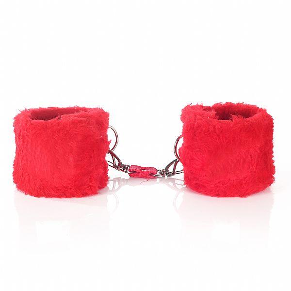 Algema Em Pelúcia Com Fechamento Em Velcro - Vermelha  - Sex Shop Cuiaba - Sexshop - Sexyshop - Produtos Eróticos