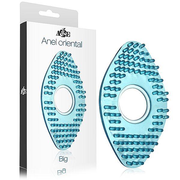Anel Peniano Oriental Grande em silicone Azul - Adao e Eva  - Sex Shop Cuiaba - Sexshop - Sexyshop - Produtos Eróticos