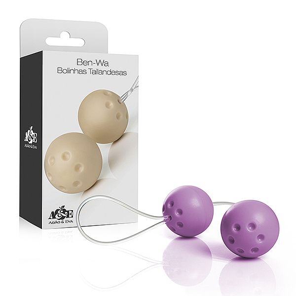 Ben Wa Conjunto de 2 Bolas para Pompoarismo - Lilás