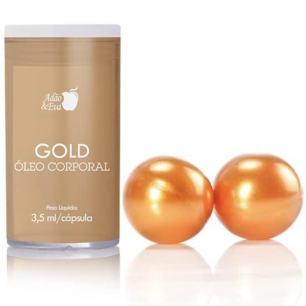 Bolinha Explosiva Dourado Happy - Adão e Eva