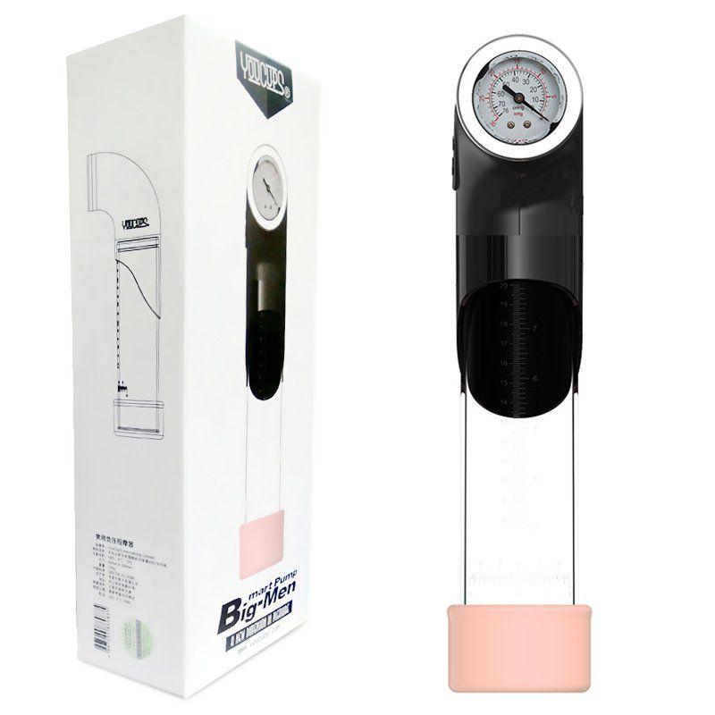 Bomba peniana Elétrica USB para Aumento peniano Masculino