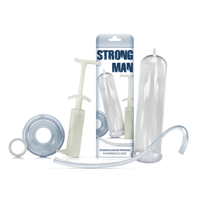 Bomba Peniana Manual Strong Man Tubo - Sexy Fantasy