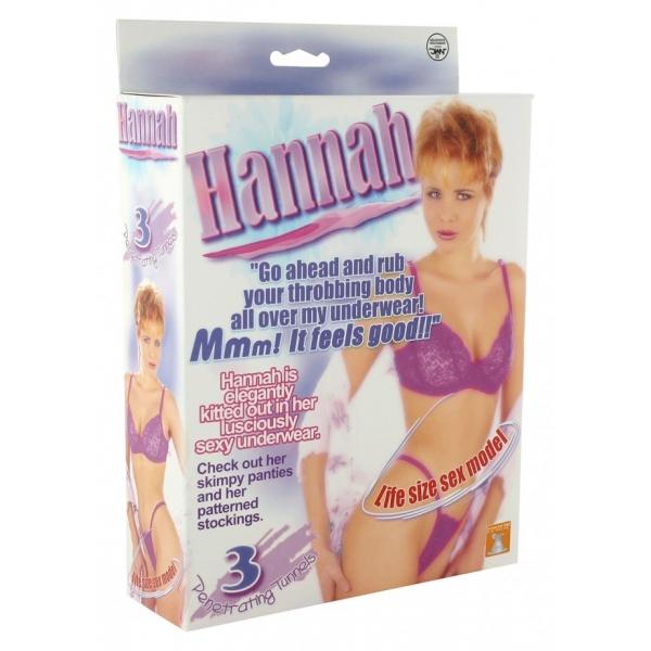 Boneca Inflável Hannah com 3 Orifícios