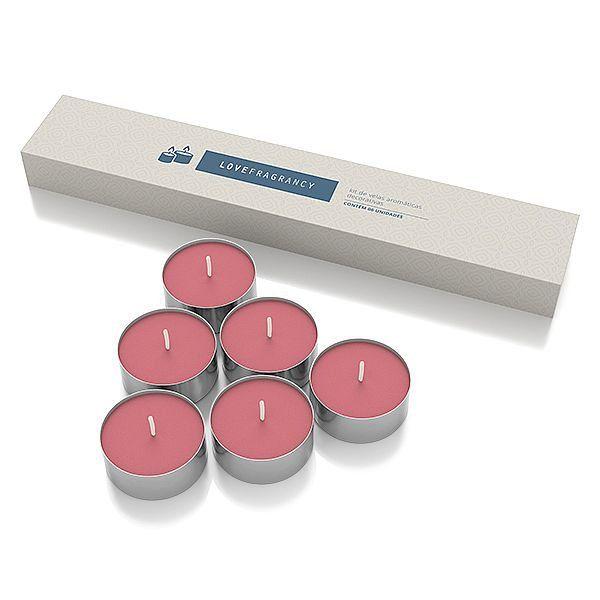 Caixa de Vela Aromatizada Love Fragrancy Sexy – 06 Unidades