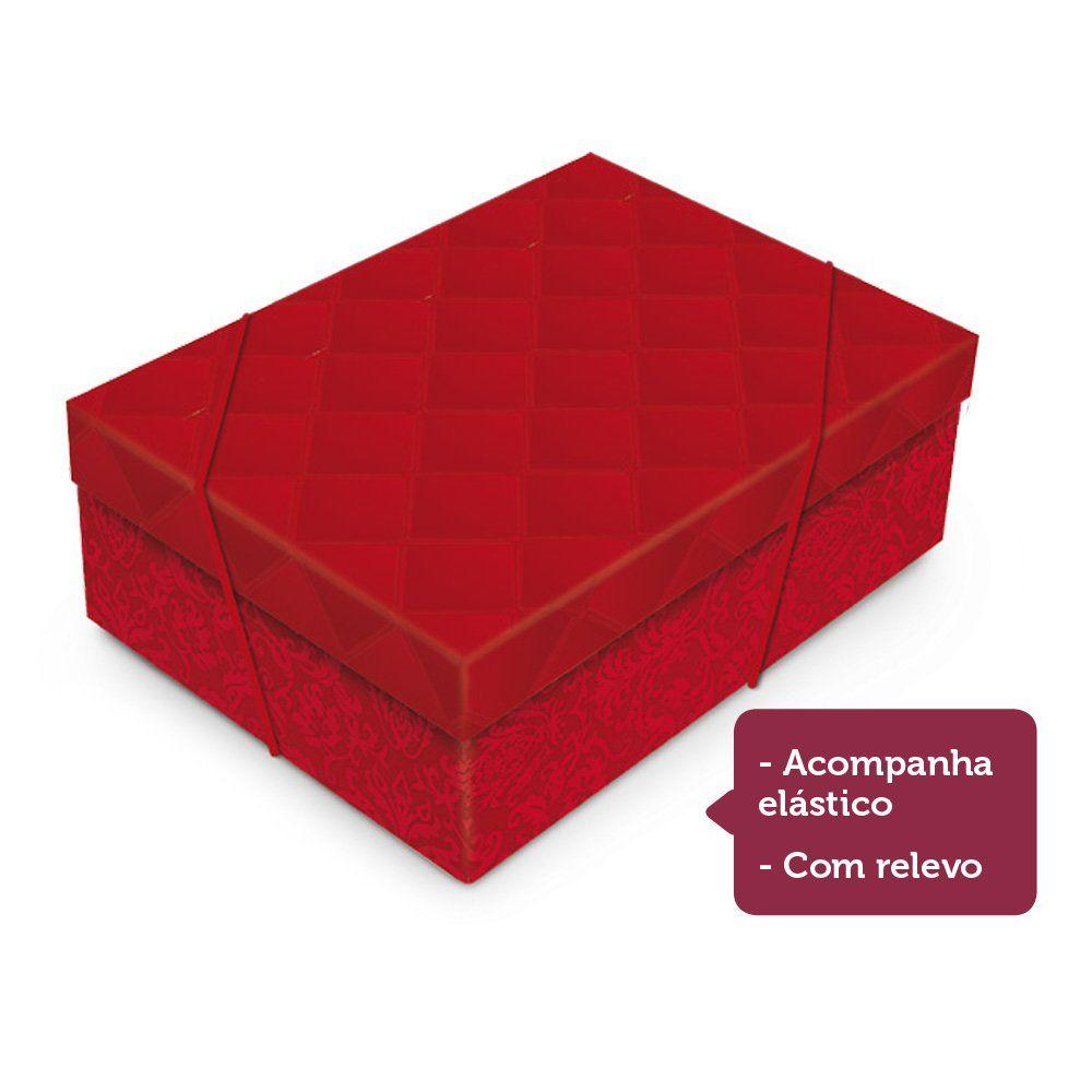 Caixa para presente Luxúria vermelho com tampa P 24x18x8