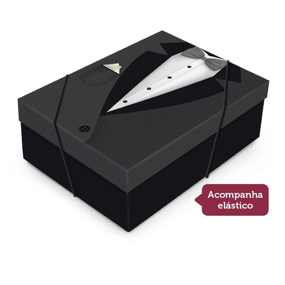 Caixa para presente Smoking com tampa P 24x18x8