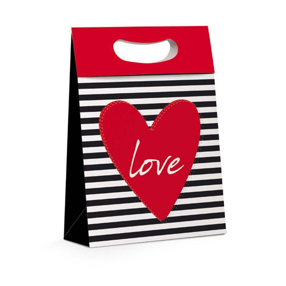 Caixa Plus Love para presente P 18x7,5x25