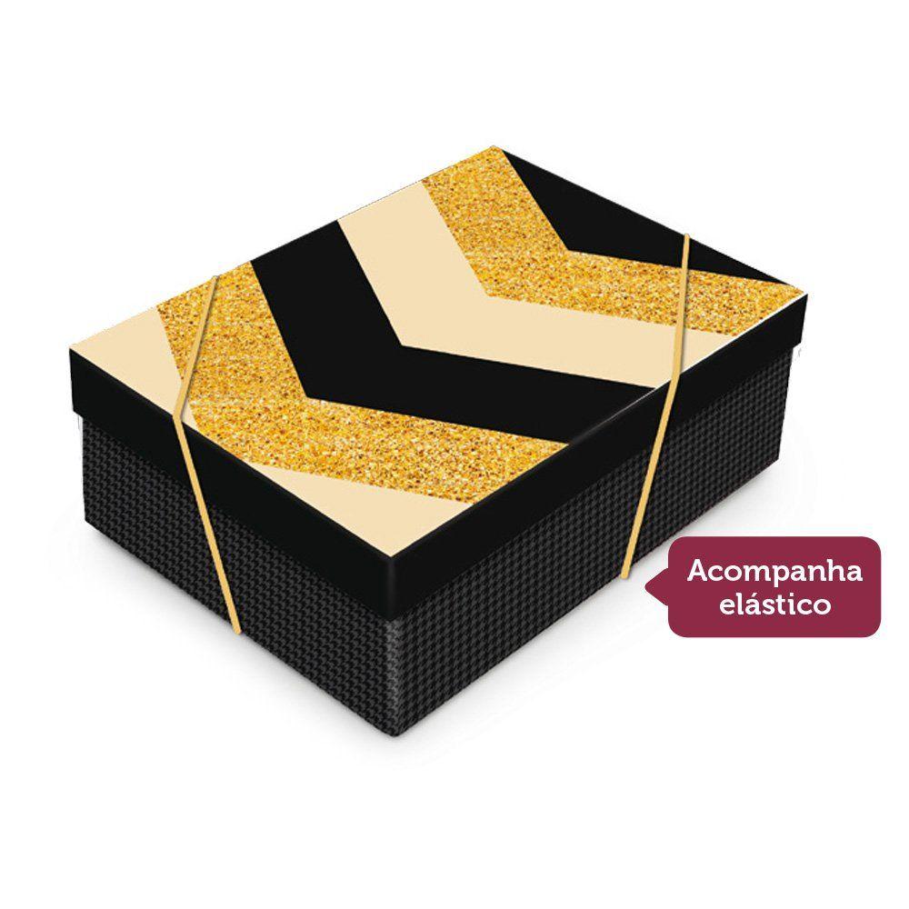 Caixa Retangular para presente Elegance com tampa P 24x18x8