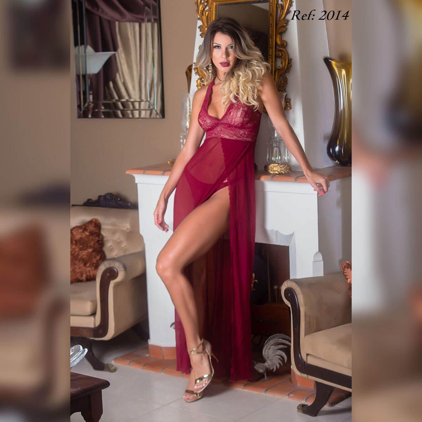 Camisola longa em tule - Lingerie garota veneno  - Sex Shop Cuiaba - Sexshop - Sexyshop - Produtos Eróticos