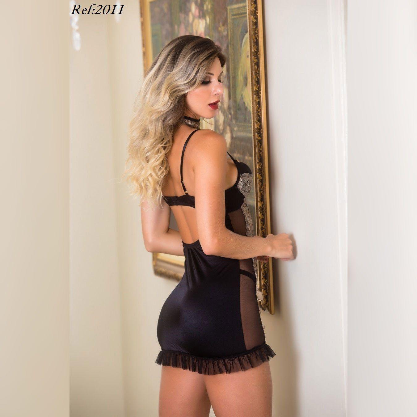 Camisola Sensual e provocante - Lingerie Garota veneno  - Sex Shop Cuiaba - Sexshop - Sexyshop - Produtos Eróticos