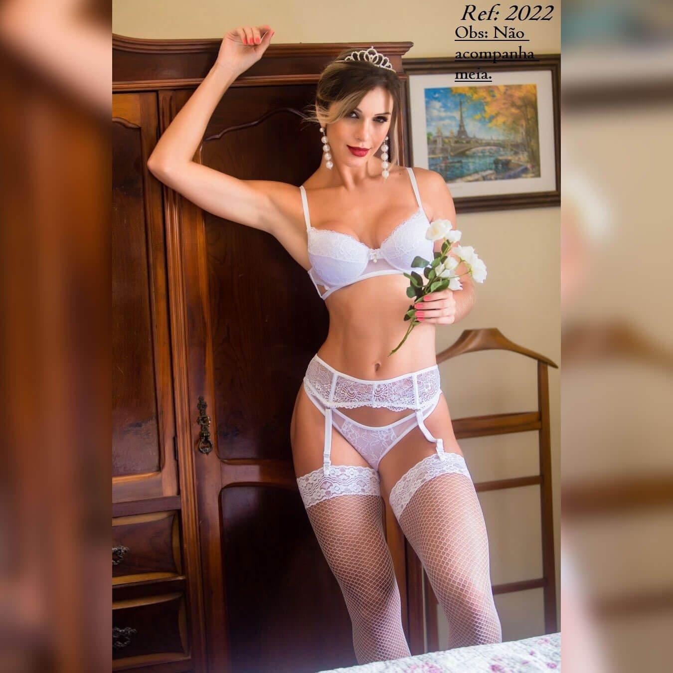 Conjunto em renda e tule - Lingerie garota veneno  - Sex Shop Cuiaba - Sexshop - Sexyshop - Produtos Eróticos