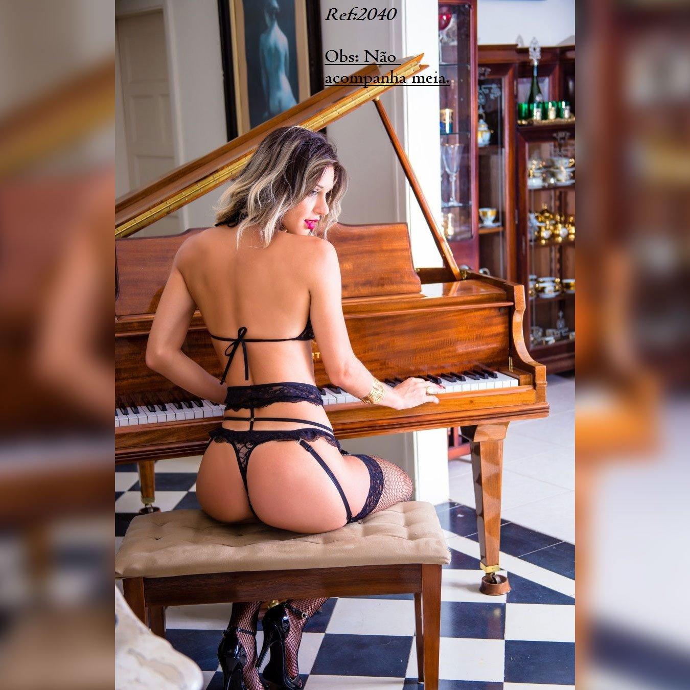 Conjunto Fantasia de luxo Deusa da Noite com Cinta Liga  - Sex Shop Cuiaba - Sexshop - Sexyshop - Produtos Eróticos