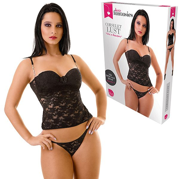 Corselet Lust com Tanga - Love Fantasies